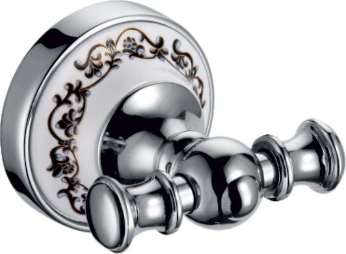 Крючок двойной изготовлен из нержавеющей стали. Ширина 7,5 см, высота 6,2.
