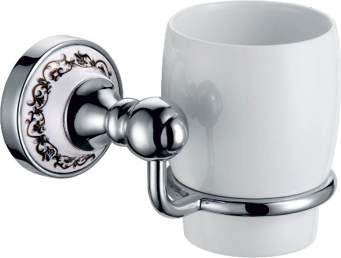 Подстаканник для ванной Fixsen Bogema, одинарный, цвет: хром78506Подстаканник одинарный Fixsen Bogema изготовлен из латуни, металлического сплава и керамики. Он является не только функциональным элементом, но и прекрасно украсит интерьер любой ванной комнаты. Подстаканник крепится на стену с помощью саморезов.
