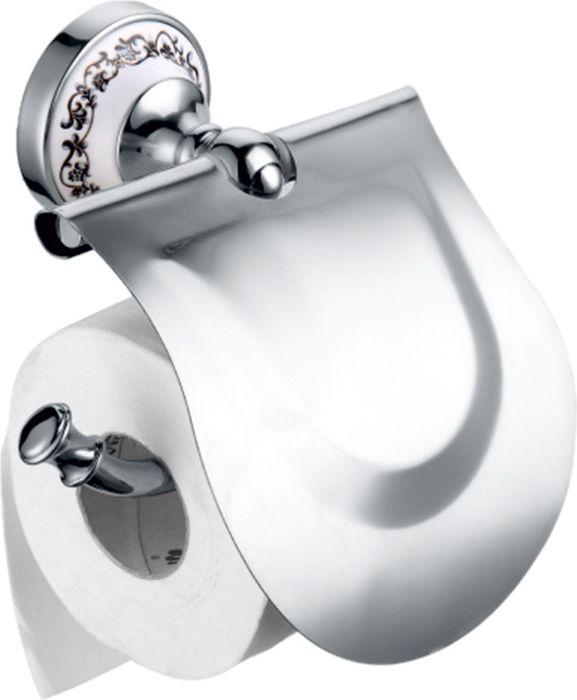 Бумагодержатель Fixsen Bogema, с крышкой, цвет: хром78510Настенный бумагодержатель Fixsen Bogema имеет модульную конструкцию с откидной крышкой, которая защищает туалетную бумагу от намокания. Изделие выполнено из металлического сплава — латуни, которая имеет глянцевое хромовое покрытие. Оно не ржавеет и не подвергается коррозийному разрушению. Держатель снабжен керамическим основанием, декорированным изящной ажурной росписью. Такой аксессуар надежен и удобен в использовании, он прекрасно удерживает бумагу и позволяет легко производить замену рулона.