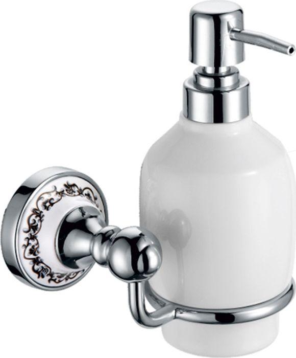 Дозатор жидкого мыла Fixsen Bogema, цвет: хром fixsen дозатор настенный для жидкого мыла fixsen europa