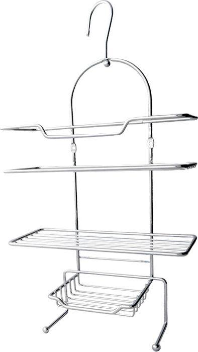 """Подвесная полка для ванной """"Fixsen"""" выполнена из нержавеющей стали. Она пригодится для хранения различных принадлежностей, которые всегда будут под рукой. Благодаря компактным размерам полка подойдет для любого интерьера."""