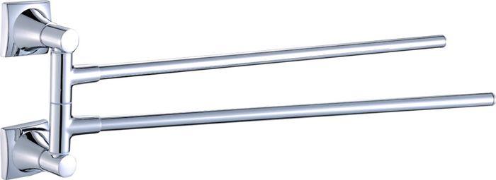 Полотенцедержатель Grampus Ocean, поворотный, двойной, цвет: хром2002АПолотенцедержатель идеально впишется в интерьер вашего дома. Полотенцедержатель поворотный двойной. Длина изделия 40 см. Полотенцедержатель выполнен из металлического сплава.