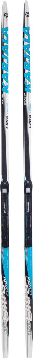 Лыжи беговые Karjala Ultra Combi, с креплением NNN, цвет: синий, рост 195 см лыжи беговые tisa top universal с креплением цвет желтый белый черный рост 182 см
