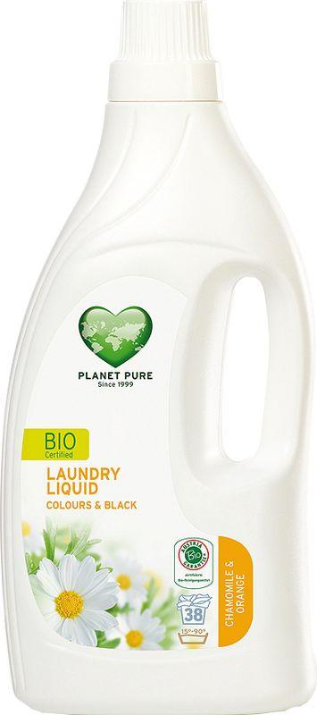 Средство для стирки Planet Pure, для цветного и черного белья, 1,55 л9120001465521BIO Средство для стирки окрашенных вещей Planet Pure РОМАШКА и АПЕЛЬСИН подарено нам самой природой. Мощные растительные экстракты-сапонины на основе мыльного ореха очищают вашу одежду эффективно и мягко. Они не содержат вредных химических веществ и, таким образом, сохраняют ваше здоровье и окружающую среду. Особенности: Растительное происхождение; Проверено дерматологами; Без синтетических отдушек; Без энзимов; Без парабенов; Без ГМО; Без нефтепродуктов; Без отбеливающих реагентов; Без тестов на животных.