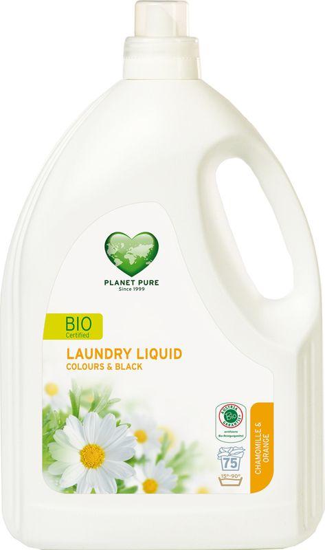 Средство для стирки Planet Pure, для цветного и черного белья, 3 л9120001469840BIO Средство для стирки окрашенных вещей Planet Pure РОМАШКА и АПЕЛЬСИН подарено нам самой природой. Мощные растительные экстракты-сапонины на основе мыльного ореха очищают вашу одежду эффективно и мягко. Они не содержат вредных химических веществ и, таким образом, сохраняют ваше здоровье и окружающую среду. Особенности: Растительное происхождение; Проверено дерматологами; Без синтетических отдушек; Без энзимов; Без парабенов; Без ГМО; Без нефтепродуктов; Без отбеливающих реагентов; Без тестов на животных.