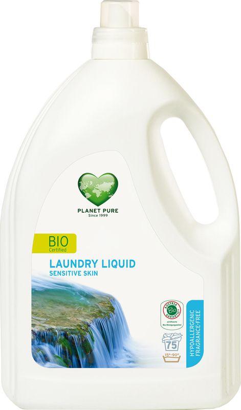Средство для стирки Planet Pure, гипоаллергенное, 3 л9120001469857BIO Средство для стирки гипоаллергенное Planet Pure БЕЗ ОТДУШЕК подарено нам самой природой. Мощные растительные экстракты-сапонины на основе мыльного ореха очищают ткани эффективно и мягко. Они не содержат вредных химических веществ и, таким образом, сохраняют ваше здоровье и окружающую среду. Для чувствительной кожи. Особенности: Растительное происхождение; Проверено дерматологами; Без синтетических отдушек; Без энзимов; Без парабенов; Без ГМО; Без нефтепродуктов; Без отбеливающих реагентов; Без тестов на животных.