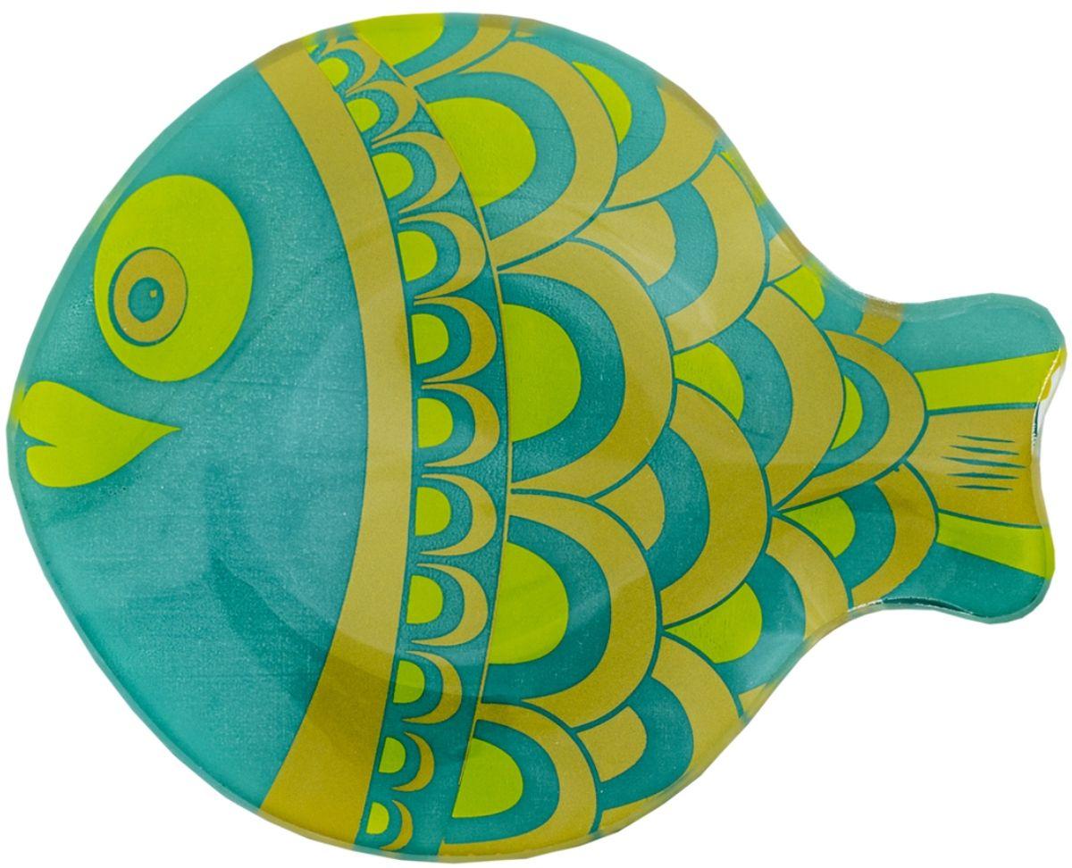 Тарелка GiftnHome Морские камушки, 17 х 14 смPL-17 FishДанный аксессуар, может служить, как блюдце для десертов и закусок, так и в качестве стильной пепельницы. Изделие изготовлено из термостойкого закаленного стекла. Изделие имеет позолоту в декоре, что исключает использование в микроволновой печи.
