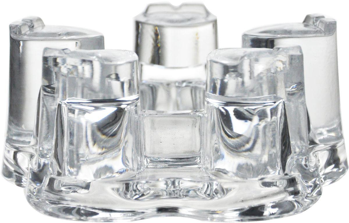 Подставка для чайника GiftnHome, 14,5 х 14,5 х 5,3 см. CNDL-5056CNDL-5056Подставка для чайника GiftnHome, изготовленная из жаропрочного стекла, предназначена для поддержки тепла в чайнике. В центр подставки помещается горящая свеча, которая будет подогревать воду и поддерживать высокую температуру воды. Свеча в комплект не входит.