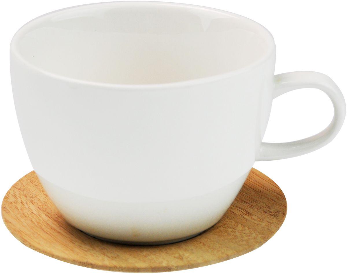 Кружка GiftnHome, с подставкой, 450 мл. M-450 BambooM-450 BambooКружка GiftnHome станет отличным подарком друзьям, близким или коллегам. Подставка-крышка изготовлена из бамбука. Такой подарок станет не только приятным, но и практичным сувениром: кружка станет незаменимым атрибутом чаепития.
