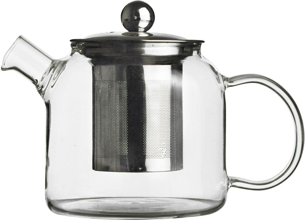 Чайник заварочный GiftnHome Teapot, с фильтром, 510 мл. Teapot - 510Teapot - 510Чайник стеклянный, с крышкой и фильтром из антикорозионной нерж.стали.