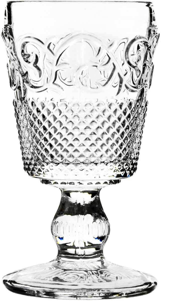 Набор бокалов GiftnHome Vintage, 260 мл, 2 шт. Vintage GL-260Vintage GL-260Набор 2пр: стеклянные стаканы Vinta гe , с рельефным рисунком, Размер: Dia 9?18 см, Емкость -260 мл