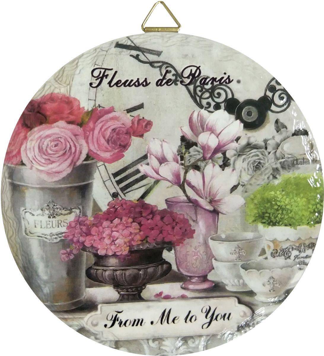 Подставка под горячее Gift'n'Home Fleurs, диаметр 18 см подставки для ванны bebe jou подставка металлическая под ванночку