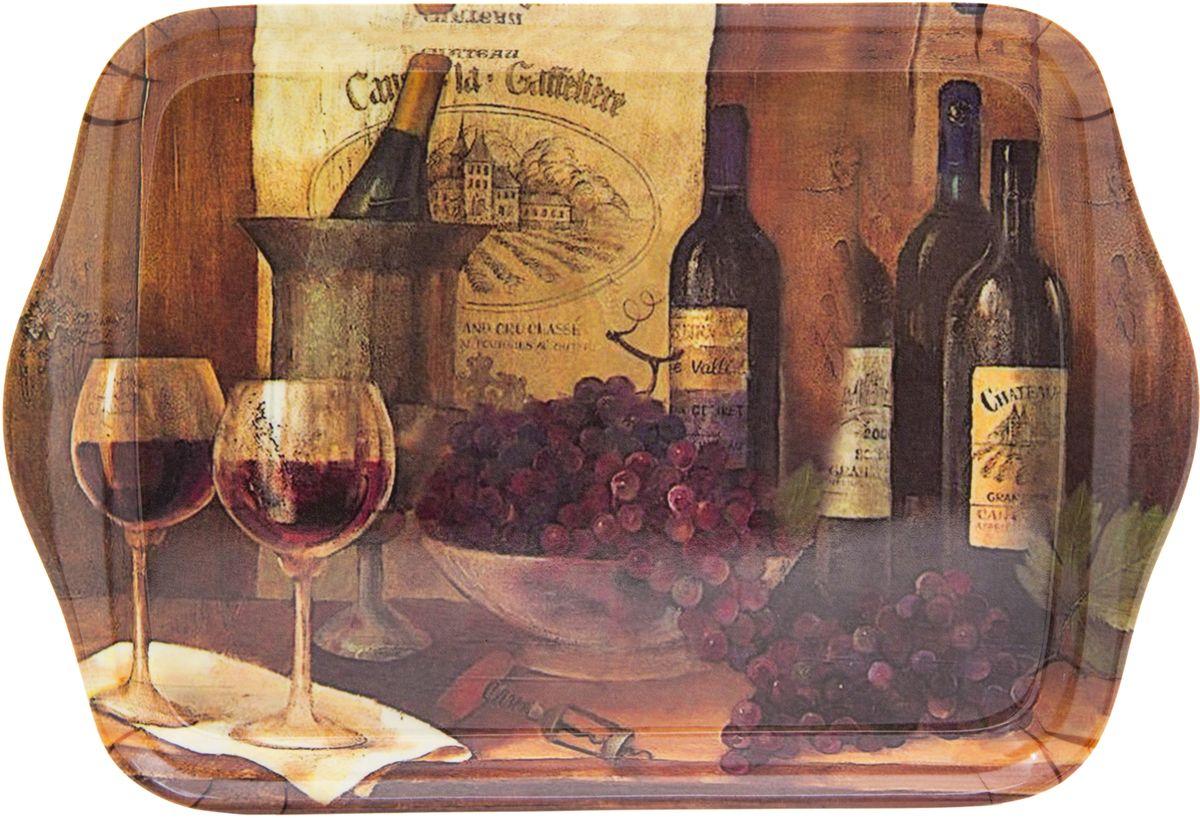 Поднос сервировочный GiftnHome Винтажные вина, 21 х 14 смML - 02 VintWinesКоллекционный подарочный поднос GiftnHome, с модным с авторским принтом, изготовлен из современного жаропрочного пластика, это функциональный и стильный аксессуар для сервировки стола и стилизации домашнего пространства. Подносы - можно использовать в качестве подставки под горячее, они не боятся высоких температур и хорошо переносят посудомоечную машину - это мечта любой домохозяйки и хорошо подходят для подарка друзьям, коллегам и близким.