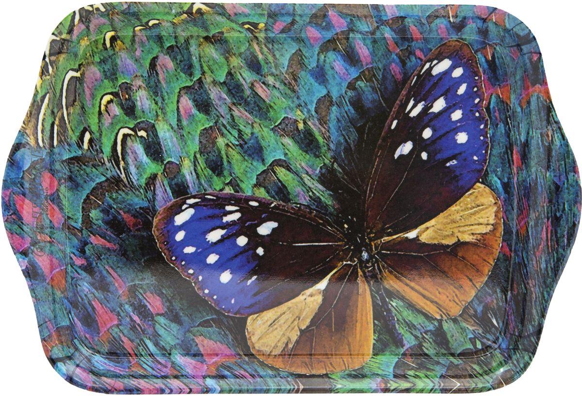 Поднос сервировочный GiftnHome Волшебная бабочка, 21 х 14 смML - 02 ButterflyКоллекционные подарочные Подносы, с модными с авторскими принтами, изготовлены из современного жаропрочного пластика, это функциональный и стильный аксессуар для сервировки стола и стилизации домашнего пространства. Подносы - можно использовать в качестве подставки под горячее, они не боятся высоких температур и хорошо переносят посудомоечную машину - это мечта любой домохозяйки и хорошо подходят для подарка друзьям, коллегам и близким. Товар произведен в Великобритании.