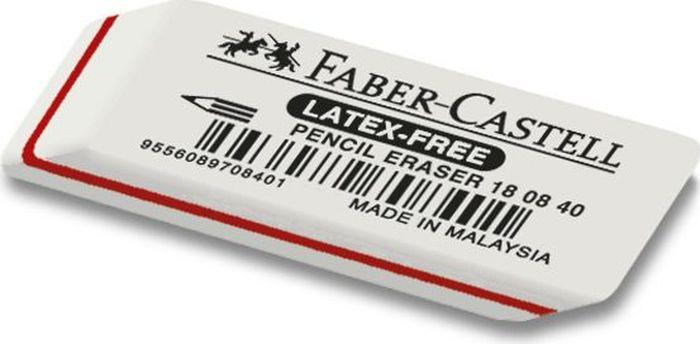 Faber-Castell Ластик 7008 180840180840Ластик 7008 Latex-Free,• мягкий ластик из натурального каучука – несодержит ПВХ• пригоден для графитных карандашей• размеры: 50 x 19 x 8 мм