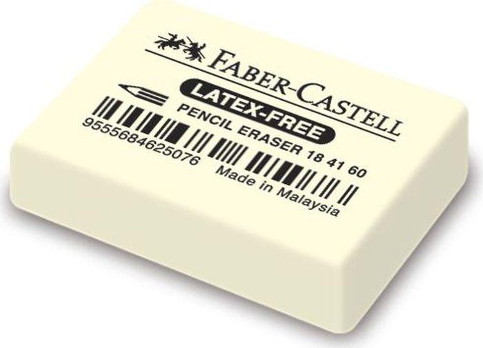 Faber-Castell Ластик 7041 184160184160Ластик 7041 Latex-Free, • ластик из натурального каучука – не содержитПВХ• пригоден для графитных простых и цветныхкарандашей• 18 41 60 размеры: 30 x 23 x 7,5 мм