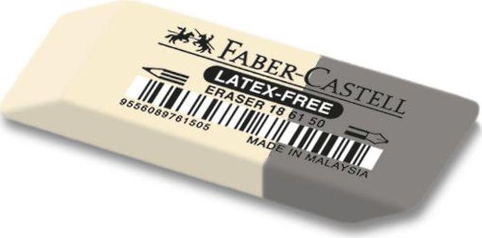 Faber-Castell Ластик 7061 двусторонний 186150186150Ластик Faber-Castell - незаменимый аксессуар для любого школьника или студента. Качественный комбинированный ластик из натурального каучука не содержит ПВХ. Мягкая белая часть пригодна для графитныхкарандашей, серая часть - для стирания чернил. Размеры: 50 x 16 x 7 мм.