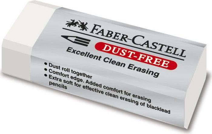 Faber-Castell Ластик Dust-Free 187120187120Качественный виниловый ластик Faber-Castell станет незаменимым аксессуаром нарабочем столе не только школьника или студента, но и офисного работника. Ластик в защитной упаковке, несодержит фталаты. Пригоден для графитных простых и цветных карандашей.Размер: 62 x 21,5 x 11,5 мм.