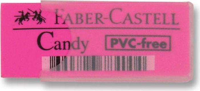 Faber-Castell Ластик Candy цвет розовый784000_розовыйЛастик Faber-Castell - незаменимый аксессуар для любого школьника или студента. Качественный ластик не содержит ПВХ. Пригоден длячернографитовых карандашей. Ластик имеет однородную структуру, не оставляет грязи, не портит бумагу. Ластик имеет пластиковый чехолдля защиты.