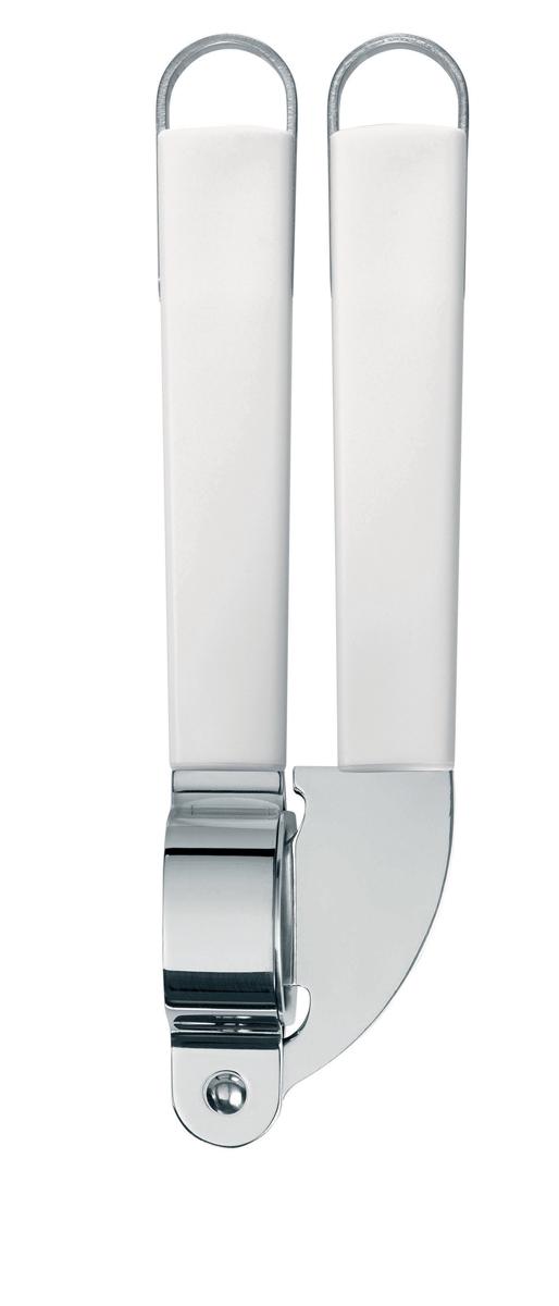 Пресс для чеснока Brabantia Essential, цвет: белый. 400667400667Удобен в использовании благодаря длинным ручкам. Съемная перфорированная вставка из нержавеющей стали. Подходит для мытья в посудомоечной машине. Имеется сочетающийся по стилю настенный держатель (рейлинг). В комплект не входит.
