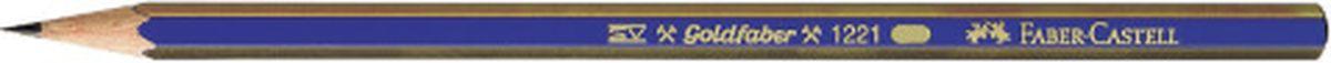 Faber-Castell Карандаш чернографитный Goldfaber 1221 2B112502Faber-Castell - чернографитный карандаш эргономичной шестигранной формы очень хорошего качества. Грифель идеален для рисования итренировки письма. Специальнаятехнология вклеивания (SV) предотвращает поломку грифеля.Корпус покрыт лаком на водной основе - бережным по отношению кокружающей среде и здоровью детей.Качественная древесина - гарантия легкого затачивания при помощи стандартных точилок.
