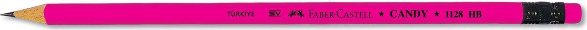 Faber-Castell Карандаш чернографитный Candy с ластиком цвет розовый18230-HBFaber-Castell - чернографитный карандаш эргономичной круглой формы хорошего качества. Грифель идеален для рисования итренировки письма. Карандаш оснащен ластиком. Специальнаятехнология вклеивания (SV) предотвращает поломку грифеля.Качественная древесина - гарантия легкого затачивания при помощистандартных точилок.