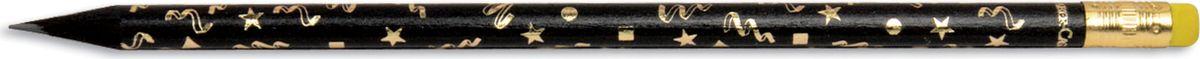 Faber-Castell Карандаш чернографитный Party с ластиком цвет желтый карандаш фонарик с ластиком