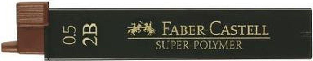 Faber-Castell Грифель для механического карандаша Superpolymer 2B 0,5 мм 12 шт120502Графитные грифели Super-Polymer, • качественные графитные грифели • пригодны для всех стандартных механических карандашей • интенсивные черные полные линии • практичная упаковка, позволяющая производить чистую замену грифеля благодаря насадке • толщина грифеля по цвету • одна упаковка содержит 12 грифелей, 0,5мм, твердость 2B