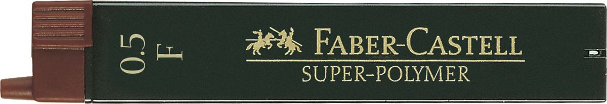 Faber-Castell Грифель для механического карандаша Superpolymer F 0,5 мм 12 шт120510Графитные грифели Faber-Castell пригодны для всех стандартных механических карандашей. Интенсивные черные полные линии.Практичная упаковка, позволяющая производить чистую замену грифеля благодаря насадке. Изделия данной категории необходимы любому человеку независимо от рода его деятельности.В упаковке 12 грифелей. Твердость: F.