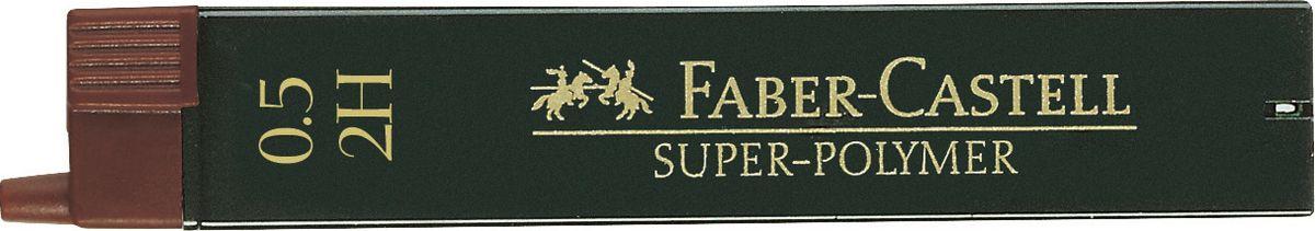 Faber-Castell Грифель для механического карандаша Superpolymer 2H 0,5 мм 12 шт120512Графитные грифели Faber-Castell пригодны для всех стандартных механических карандашей. Интенсивные черные полные линии.Практичная упаковка, позволяющая производить чистую замену грифеля благодаря насадке. Изделия данной категории необходимы любому человеку независимо от рода его деятельности.В упаковке 12 грифелей. Твердость: 2H.