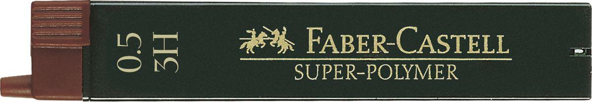 Faber-Castell Грифель для механического карандаша Superpolymer 3H 0,5 мм 12 шт120513Графитные грифели Faber-Castell пригодны для всех стандартных механических карандашей. Интенсивные черные полные линии.Практичная упаковка, позволяющая производить чистую замену грифеля благодаря насадке. Изделия данной категории необходимы любому человеку независимо от рода его деятельности.В упаковке 12 грифелей. Твердость: 3H.