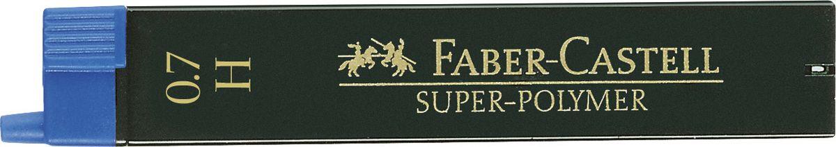 Faber-Castell Грифель для механического карандаша Superpolymer H 0,7 мм 12 шт120711Графитные грифели Super-Polymer, • качественные графитные грифели • пригодны для всех стандартных механических карандашей • интенсивные черные полные линии • практичная упаковка, позволяющая производить чистую замену грифеля благодаря насадке • толщина грифеля по цвету • одна упаковка содержит 12 грифелей, 0,7мм, твердость H