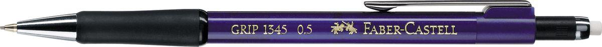 Faber-Castell Карандаш механический Grip 1345 0,5 мм цвет корпуса синий134551Механический карандаш Faber-Castell станет незаменимым инструментом для начинающих ипрофессиональных художников, а также подойдет для повседневных записей.Особенности:- антискользящая резиновая зона захвата; - упругий клип и металлический наконечник; - оптимальная толщина грифеля 0,5 мм; - убирающийся внутрь кончик; - экстрадлинный выдвижной ластик.