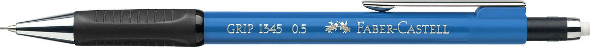 Faber-Castell Карандаш механический Grip 1345 0,5 мм цвет корпуса голубой134553Механический карандаш Faber-Castell станет незаменимым инструментом для начинающих ипрофессиональных художников, а также подойдет для повседневных записей.Особенности:- антискользящая резиновая зона захвата; - упругий клип и металлический наконечник; - оптимальная толщина грифеля 0,5 мм; - убирающийся внутрь кончик; - экстрадлинный выдвижной ластик.