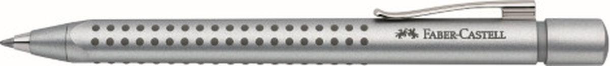 Faber-Castell Ручка шариковая Grip 2011 цвет серебристый144111Шариковая ручка Faber-Castell станет незаменимым атрибутом учебы или работы. Имеет эргономичную трехгранную форму. Корпус ручкивыполнен из пластика. Пригодна для письма на документах.Запатентованная антискользящая зона захвата Grip с малыми массажнымишашечками. Ручка оснащена упругим клипом и наконечником из металла.
