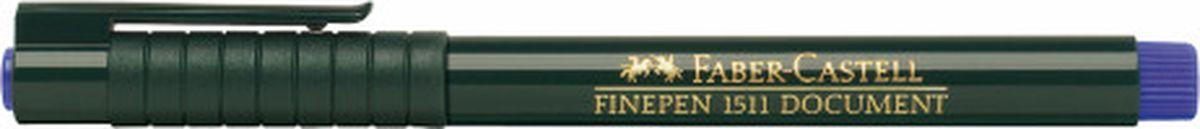 Faber-Castell Ручка капиллярная Finepen 1511 цвет чернил синий faber castell ручка капиллярная grip цвет чернил карминовый