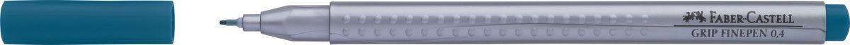 Faber-Castell Ручка капиллярная Grip 0,4 мм цвет чернил бирюзовый151653Капиллярные ручки Grip Finepen, трехгранные,эргономичная трехгранная форма • запатентованная антискользящая зона GRIP с малыми массажными шашечками • толщина линии 0,4 мм облегчает черчение с линейкой и рисование по шаблону) • корпус из полипропилена обеспечивает длительный срок хранения • чернила на водной основе с добавлением пищевых красителей безопасны для детей • вентилируемый колпачок • отстирываются с большинства обычных тканей, цвет темно синий