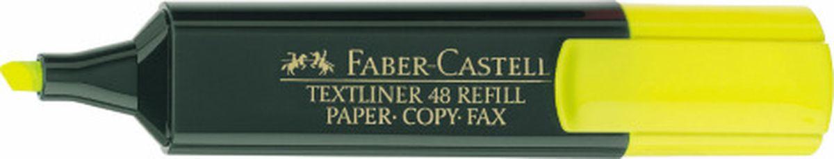 Faber-Castell Текстовыделитель 1548 цвет желтый154807Текстовыделитель Faber-Castell станет незаменимым предметом как на столе школьника, так и студента.Имеет возможность повторногонаполнения. Он идеален для всех видов бумаги. Чернила на водной основе.Линия маркировки шириной 5, 2 или1 мм.