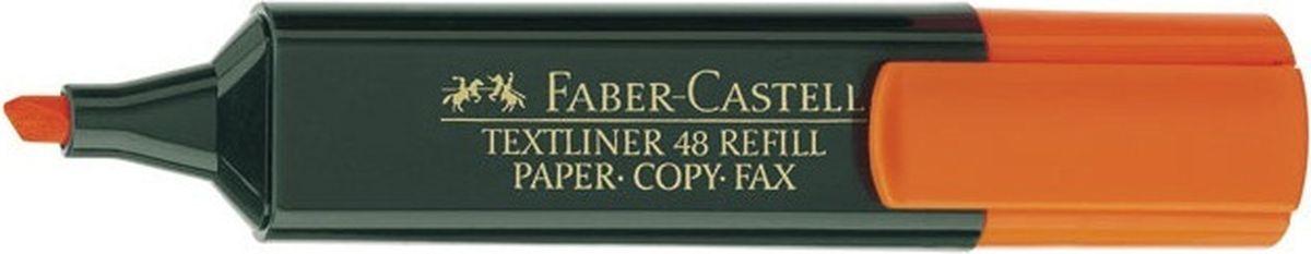 Faber-Castell Текстовыделитель 1548 цвет оранжевый154815Текстовыделитель Faber-Castell станет незаменимым предметом как на столе школьника, так и студента.Имеет возможность повторногонаполнения. Он идеален для всех видов бумаги. Чернила на водной основе.Линия маркировки шириной 5, 2 или1 мм.