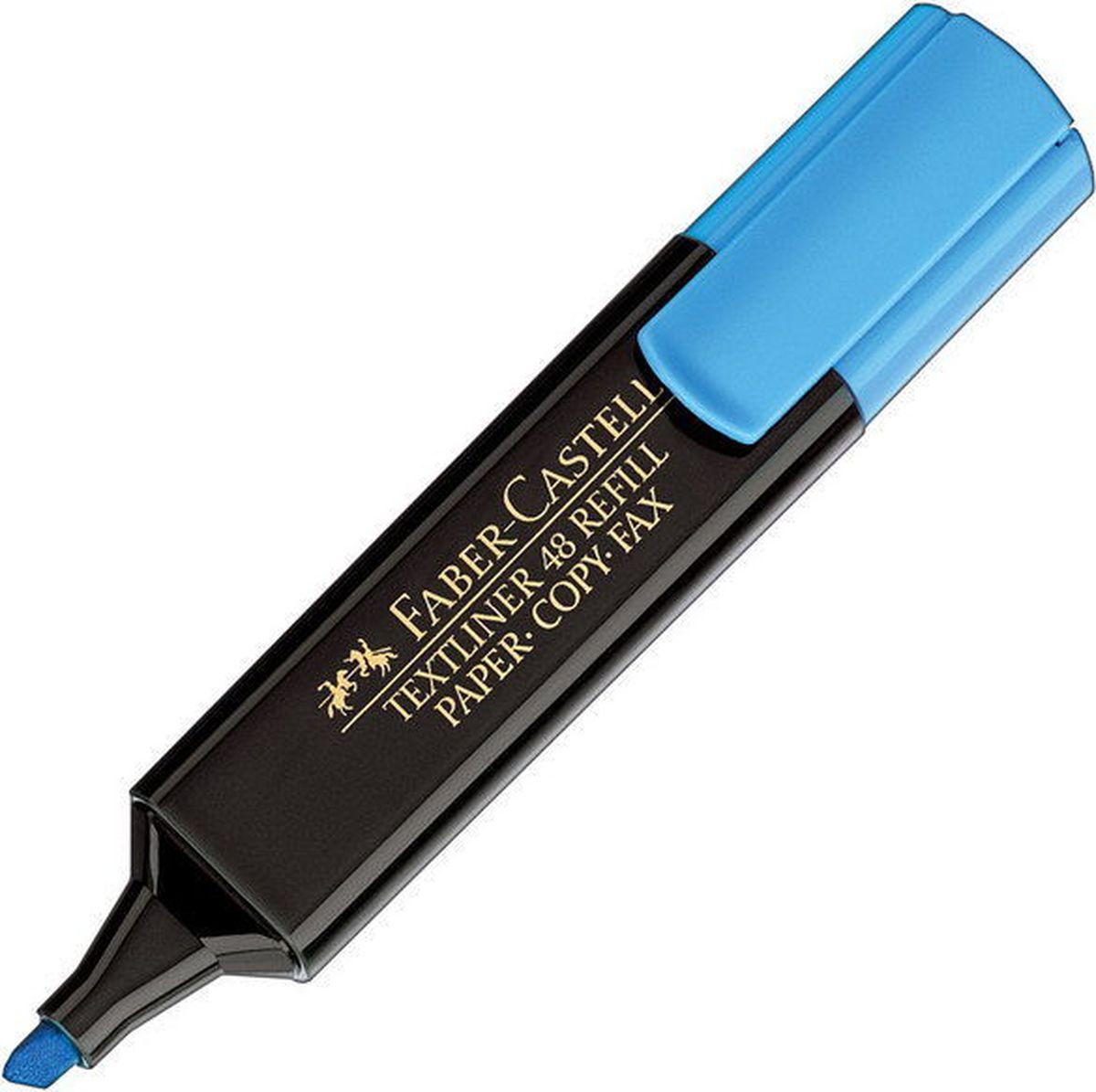 Faber-Castell Текстовыделитель 1548 цвет синий154851Текстовыделитель 1548,• очень качественный маркер • возможность повторного наполнения • чернила на водной основе • идеален для всех видов бумаги • линия маркировки шириной 5, 2 или 1 мм • 6 интенсивных цветов