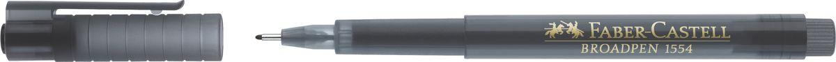 Faber-Castell Ручка капиллярная Broadpen 1554 цвет чернил серый149309Качественная капиллярная ручка Faber-Castell с перманентными, не выцветающими чернилами идеальна для письма, рисования, набросков. Онаимеет большой объем чернил на водной основе в прозрачном корпусе.Металлический наконечник: 0,8 мм. Толщина линии: 0,5 мм.