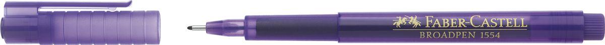 Faber-Castell Ручка капиллярная Broadpen 1554 0,5 мм цвет чернил фиолетовый155436Качественная капиллярная ручка Faber-Castell с перманентными, не выцветающими чернилами идеальна для письма, рисования, набросков. Онаимеет большой объем чернил на водной основе в прозрачном корпусе.Металлический наконечник: 0,8 мм. Толщина линии: 0,5 мм.