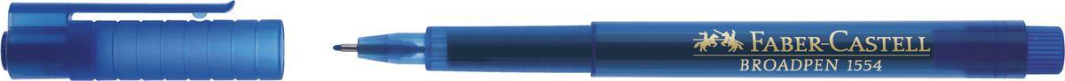 Faber-Castell Ручка капиллярная Broadpen 1554 цвет чернил синий не могу cd r audio