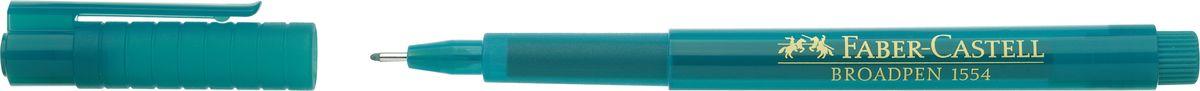 Faber-Castell Ручка капиллярная Broadpen 1554 цвет чернил бирюзовый faber castell ручка капиллярная grip цвет чернил карминовый