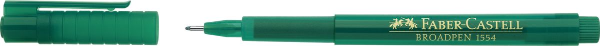 Faber-Castell Ручка капиллярная Broadpen 1554 цвет чернил зеленый faber castell ручка капиллярная grip цвет чернил карминовый
