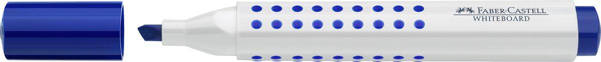 Faber-Castell Маркер для доски Grip клиновидный наконечник цвет синий158651Маркер с клиновидным наконечником Faber-Castell удобен для письма на белой маркерной доске.Быстро сохнет, не имеет сильного запаха,легко стирается с доски, неоставляя следов. Характеристики:- эргономичная трехгранная область захвата;- привлекательный полупрозрачный дизайн; - ширина линии: 2,5-5 мм;- простая система повторного наполнения чернилами.
