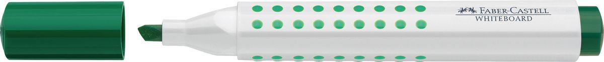 Faber-Castell Маркер для доски Grip клиновидный наконечник цвет зеленый158663Маркер для белой доски Grip ,эргономичная трехгранная область захвата • привлекательный полупрозрачный дизайн • линия маркировки шириной 5, 2 или 1 мм • 4 ярких цвета • простая система повторного наполнения чернилами • контрастные цвета, быстрое высыхание, без сильного запаха, светостойкие • легко стирается с доски, не оставляя следов