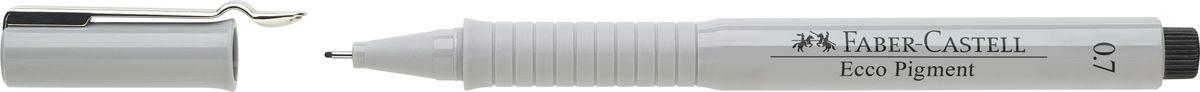 Faber-Castell Ручка капиллярная Ecco Pigment 0,7 мм цвет чернил черный166799Капиллярные ручки Ecco Pigment, • идеальны для письма, рисования, набросков • пигментные черные чернила • водо- и светоустойчивые • позволяют рисование с линейкой и по шаблону • длинный кончик с металлическим корпусом • эргономичная область захвата • металлический клип, черный 0,7 мм