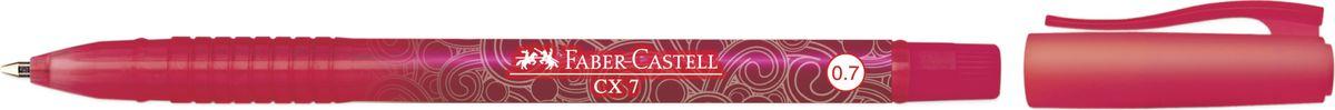 Faber-Castell Ручка-роллер СX7 0,7 мм цвет чернил красный2391334Ручка-роллер Faber-Castell с наконечником 0,7 мм обеспечивает очень мягкое письмо. Пригодна для письма на документах. Эргономичнаязона захвата обеспечивает комфорт во время письма. Вентиляционный колпачок оснащен упругим клипом.
