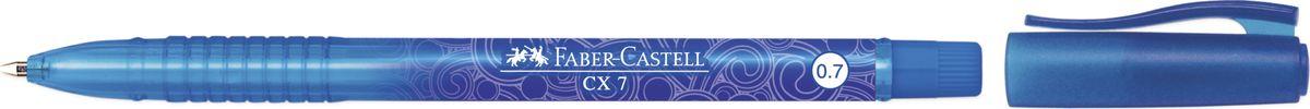 Faber-Castell Ручка роллер СX7 0,7 мм цвет чернил синий246851Роллер CX7,• эргономичная область захвата• низковязкостные чернила (semi-gel)• привлекательные прозрачные цвета корпуса• вентиляционный колпачок с упругим клипом• пригоден для письма в документах• тонкий наконечник 0,7 мм
